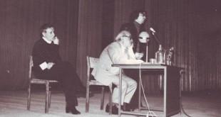 ЦДРИ, весна 1982 г. Слева от ДС – артист Рафаэль Клейнер. Справа – Геннадий Евграфов.