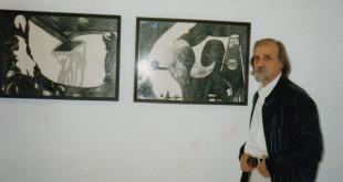 Ефим Гаммер на открытии своей персональной выставки в Доме художников Иерусалима фото Беллы Верниковой