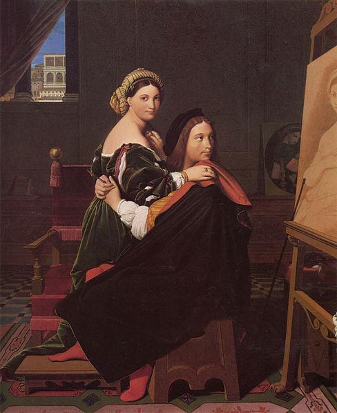 Рафаэль и Форнарина, 1514 г.