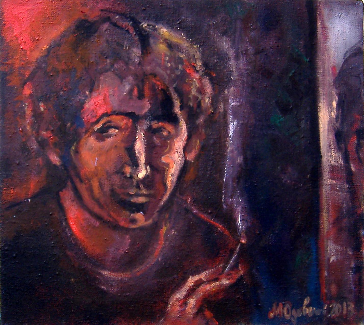 Михаил Юдовский. Автопортрет с сигаретой